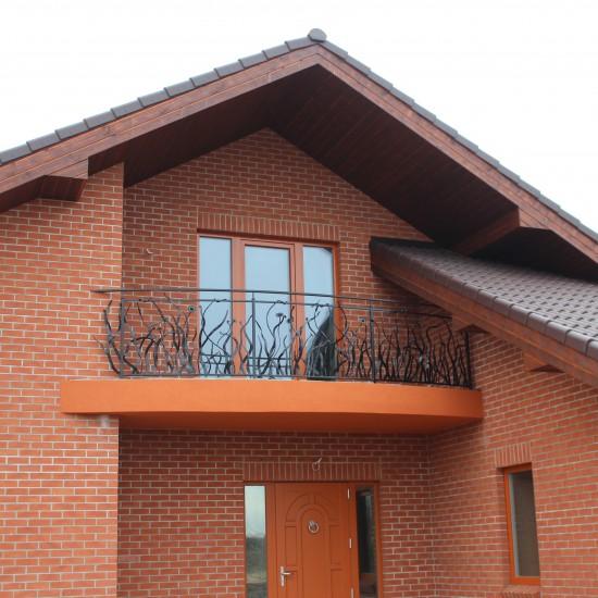 Metaliniai balkono tureklai su gamtos motyvu