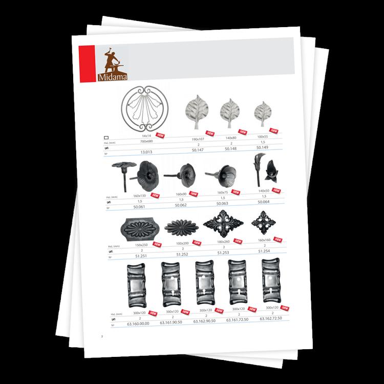 Katalogas kaltinės detalės 1